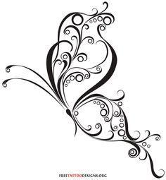 Celtic Swirl Tattoo   60 Butterfly Tattoos   Feminine And Tribal Butterfly Tattoo Designs