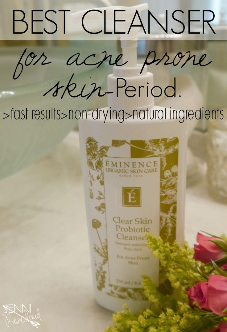 Eminence Probiotic Cleanser-Best cleanser for acne prone skin!  Results are fast and non drying or irritating!