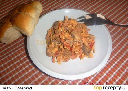 Žampionový salát recept - TopRecepty.cz