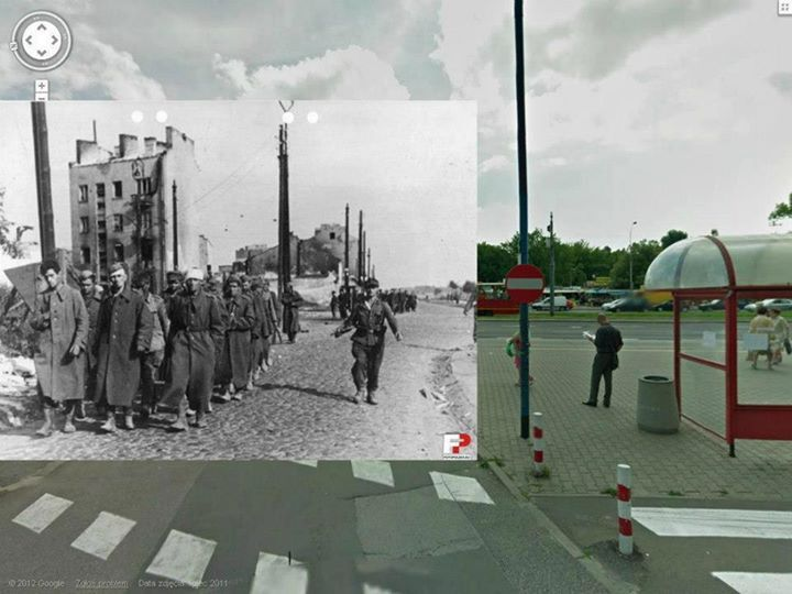 ul. Opaczewska.  Pojmani żołnierze Armii Berlinga.