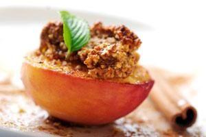 Mediterranean Style Baked Apple.  Healthy dessert option.
