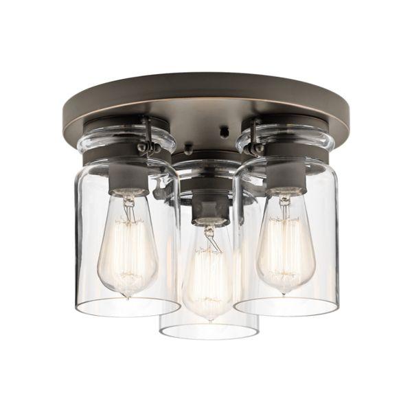 Mason Jar Flush Mount Light Part - 43: Brinley Flush Mount