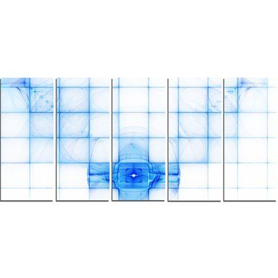 DesignArt Bat Outline on Radar Screen' Graphic Art Print Multi-Piece Image on Canvas