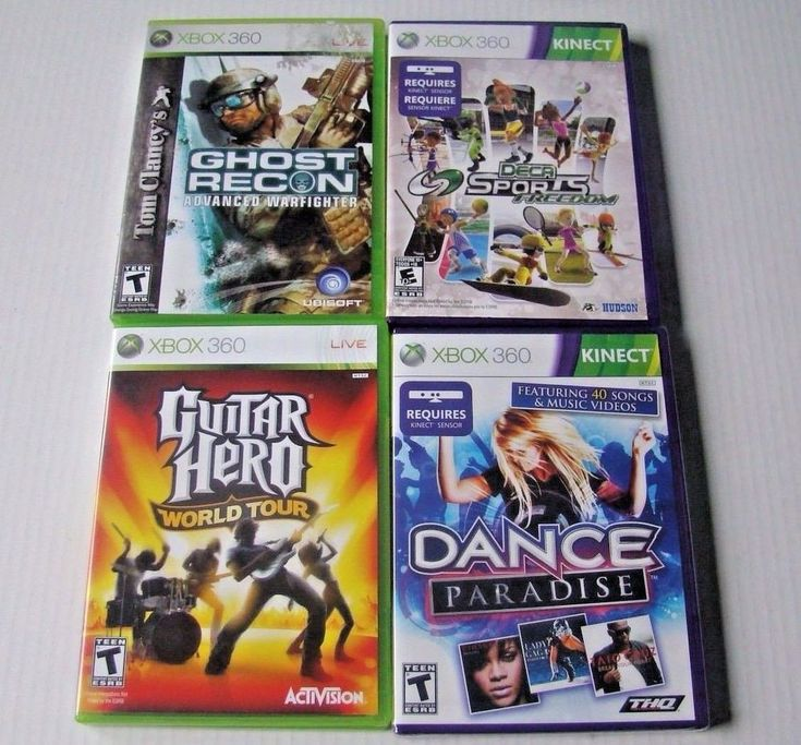 Lot of xbox 360 video games Guitar Hero Ghost Recon Deca Sports Freedom Dance   | eBay