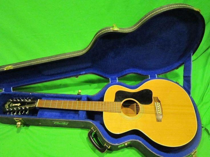 1974 Vintage Guild 12  string  acoustic guitar with hard shell case #Guild #Acoustic #vintageguitars
