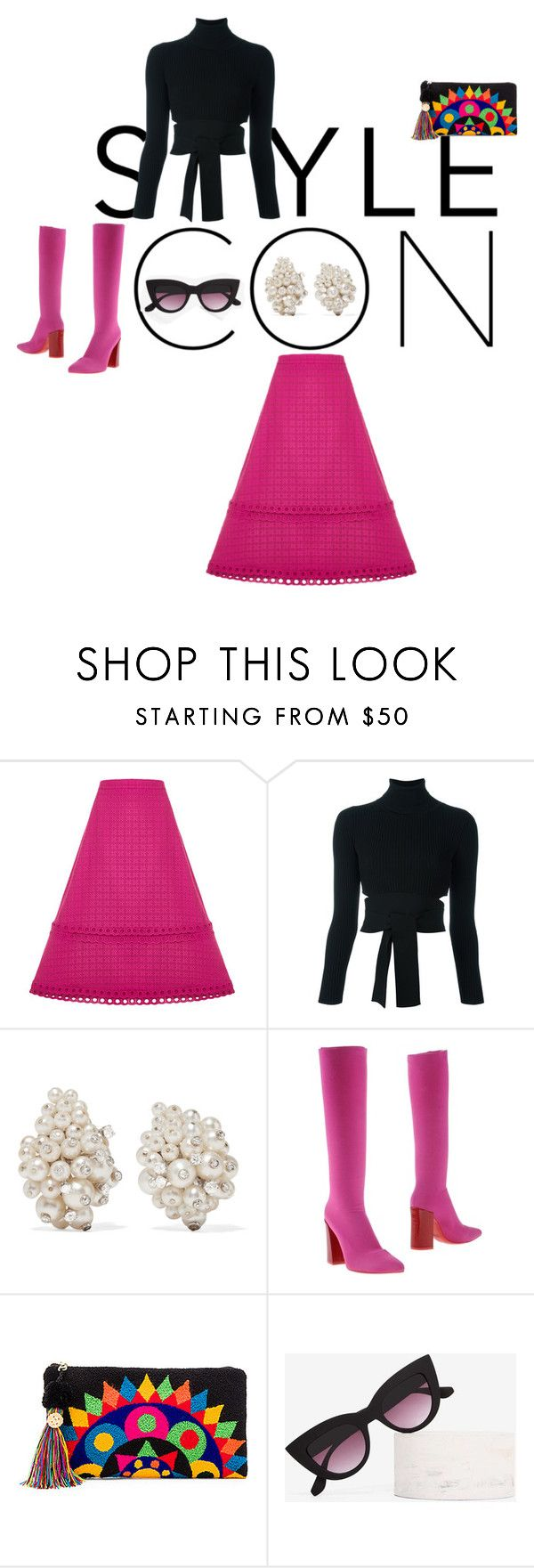 Ann by wildpatchouli on Polyvore featuring Cushnie Et Ochs, House of Holland, Luca Valentini, The Way U, Fred Leighton, Quay, Pink and pretty