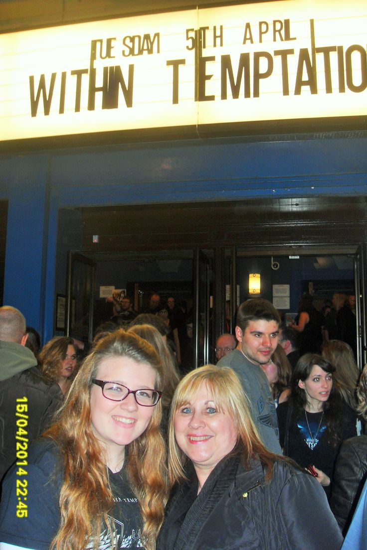 My Daughter on Left and Partner on right outside O2 Academy in April 2014 #WTworldtour. I had to take the pic. Great Night