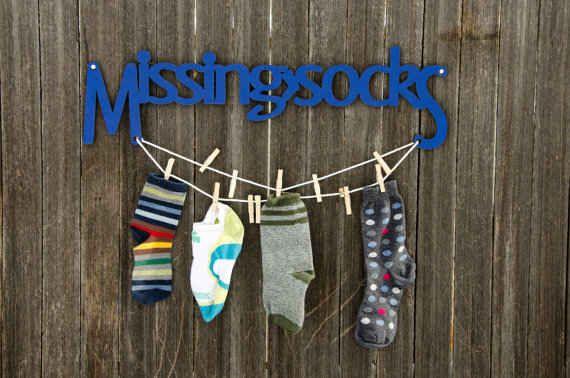 Da un sitio especial a los calcetines perdidos.
