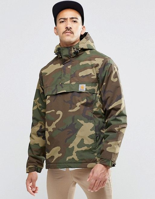Carhartt WIP   Carhartt WIP Nimbus Overhead Jacket i Str. Small (mandestr.)