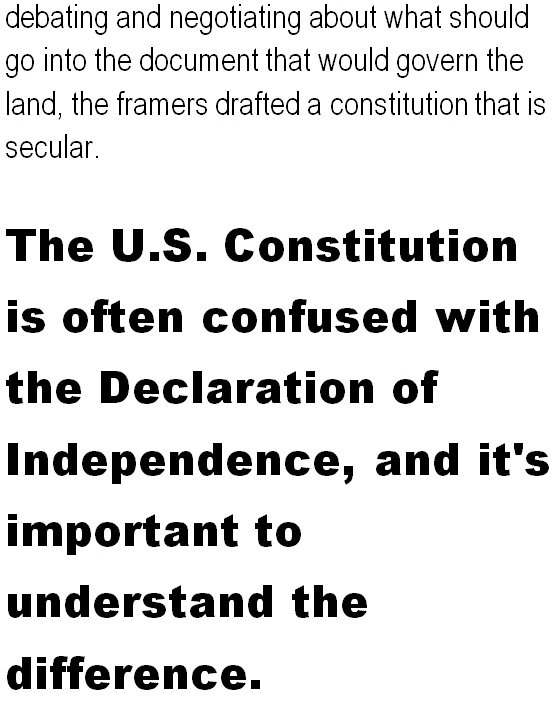 The U.S. Constitution is often confused with the