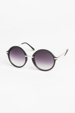 Round floral sunglasses