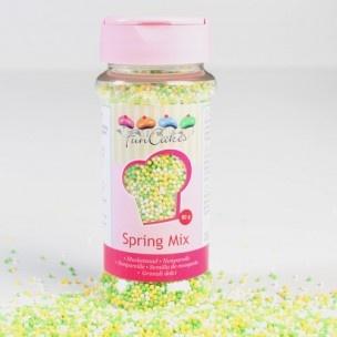 Versier je taarten, cupcakes en koekjes met dit vrolijke musketzaad in voorjaars kleuren!