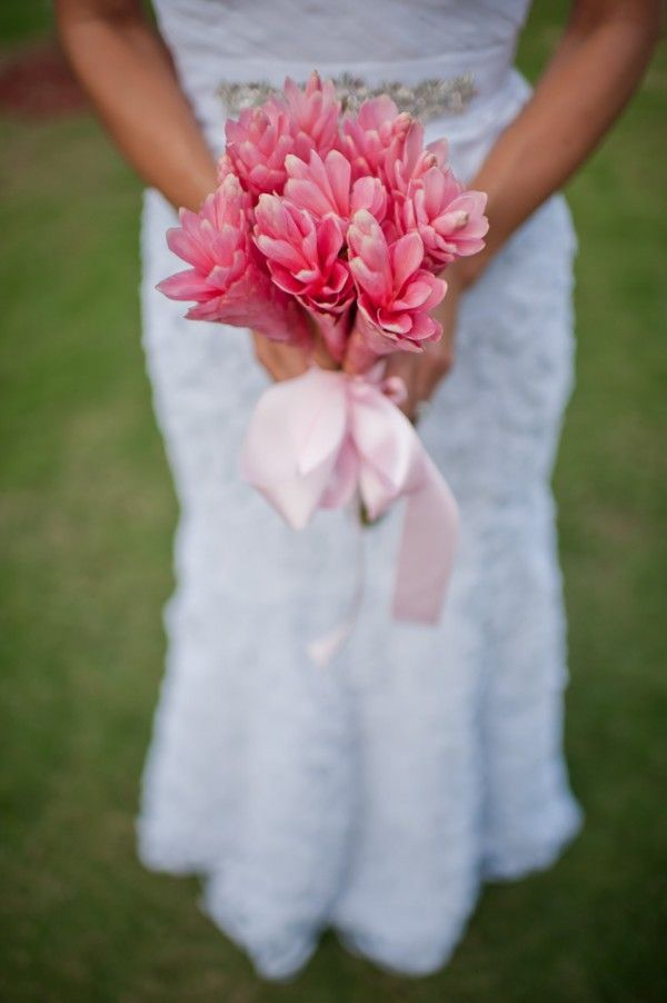 We Love Ginger Flowers With Their Densely Packed Tiers Of Vibrant Pink Petals Simple Bridesmaid