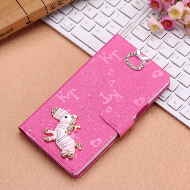 phone bag hello kitty pattern phone case for nokia lumia 920 case with card solts horse diamonds stand function