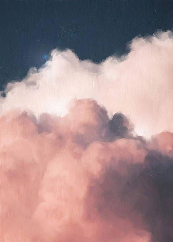 Cloud Painting Print, Cloud Print, Cloudscape Art …