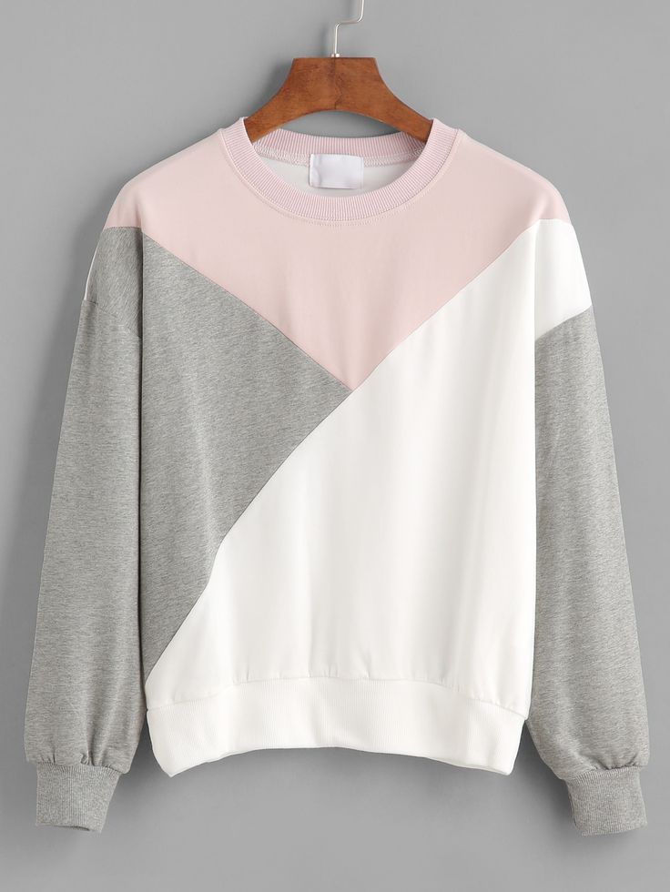 Shop Color Block Drop Shoulder Sweatshirt online. SheIn offers Color Block Drop Shoulder Sweatshirt & more to fit your fashionable needs.