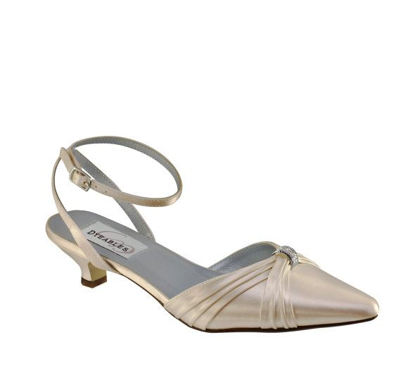 Wedding Shoes Low Heel -- 1.25 Inch