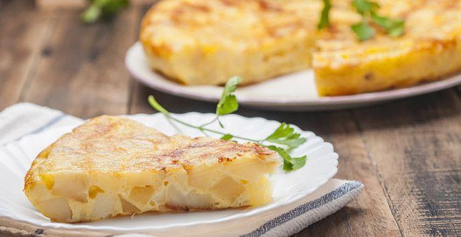Tortilla Española recipe: Traditional Spanish omelette #ATasteOf