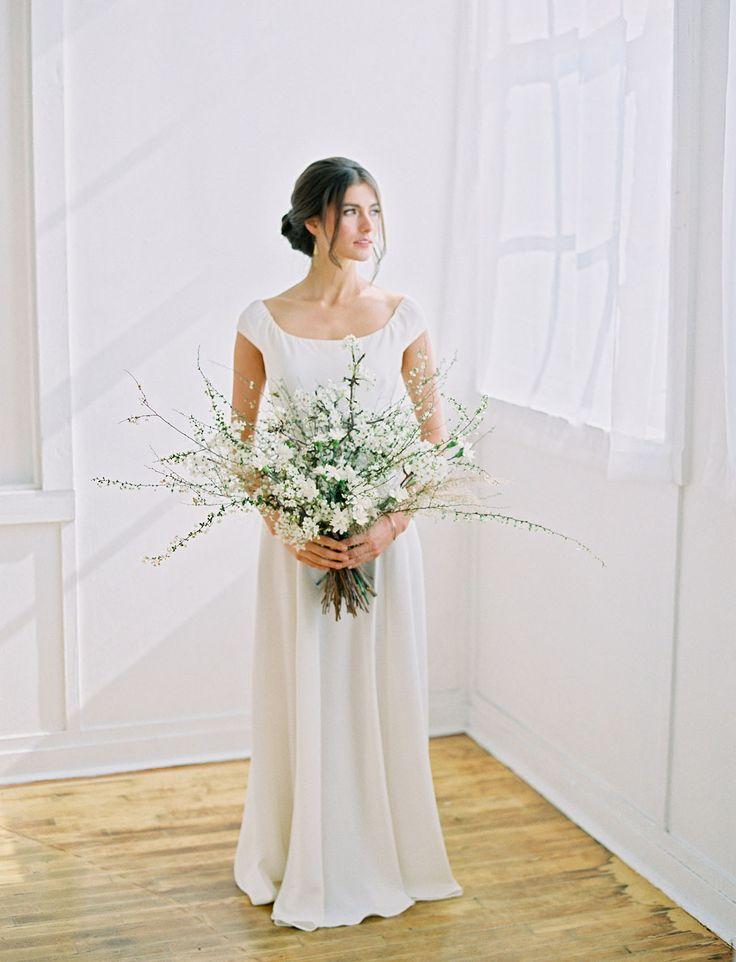 Цветов москва, минималистичный букет невесты