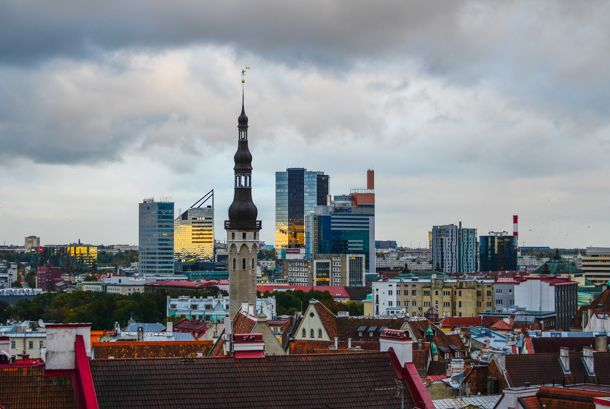 Tallinn's booming business centre - Estonia's Silicon Valley