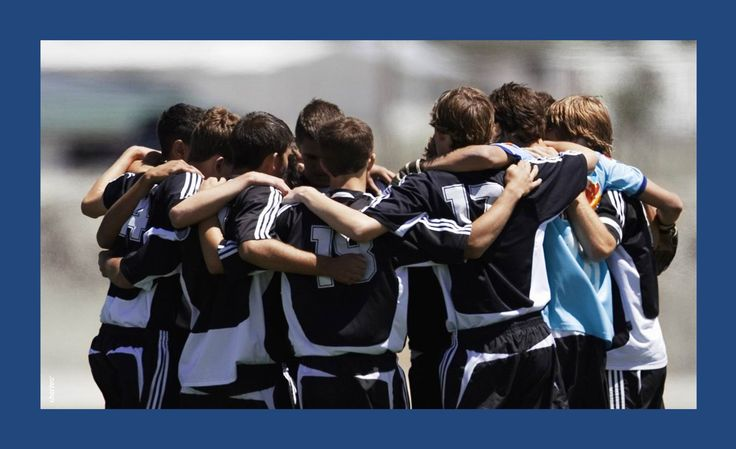 Start a topic about team spirit with this backround by using it as chapter slide.