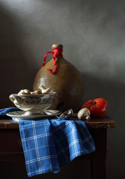 #still #life #photography • photo: С помидором и грибами | photographer: Диана Амелина | WWW.PHOTODOM.COM
