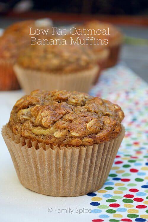 Low Fat Oatmeal Banana Muffins 20