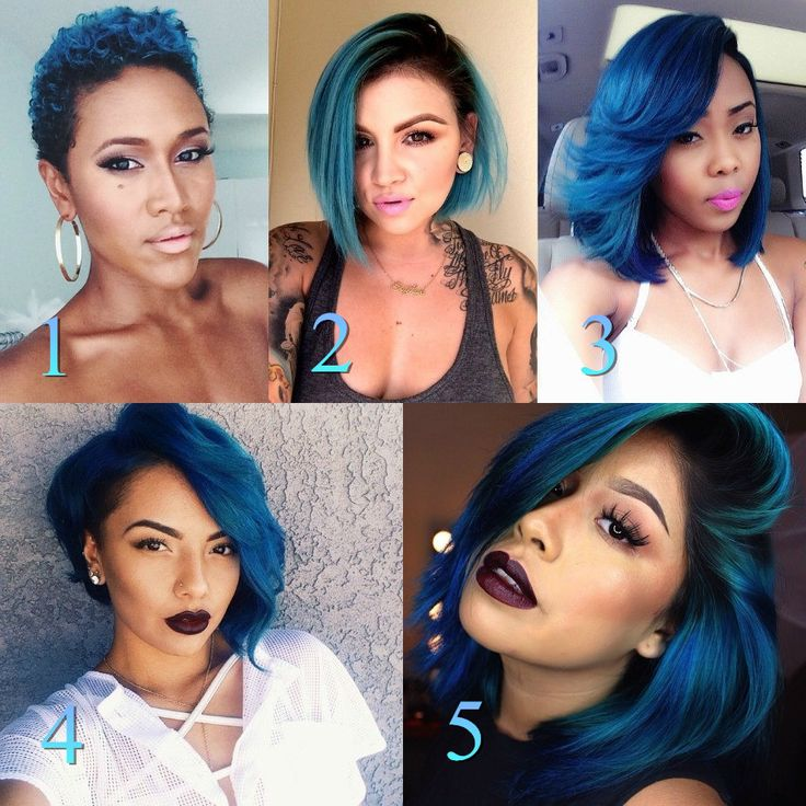 Blue Bob Haircut Pixie Awesome Hairstyles Beat Pinterest