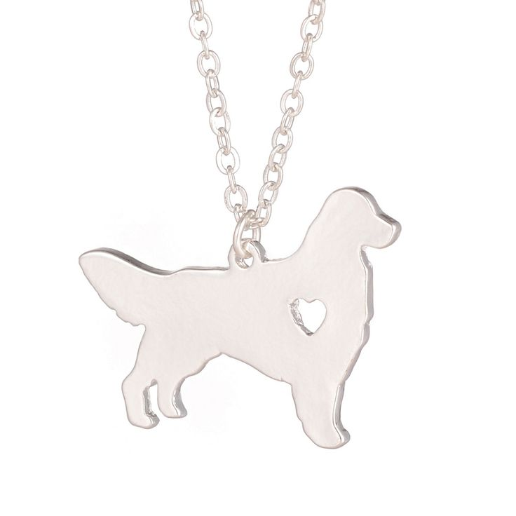 1ピースゴールデンレトリバーネックレス犬ペンダント犬の品種シルバーチャームパーソナライズペット子犬採用救助クリスマスギフト犬愛好家