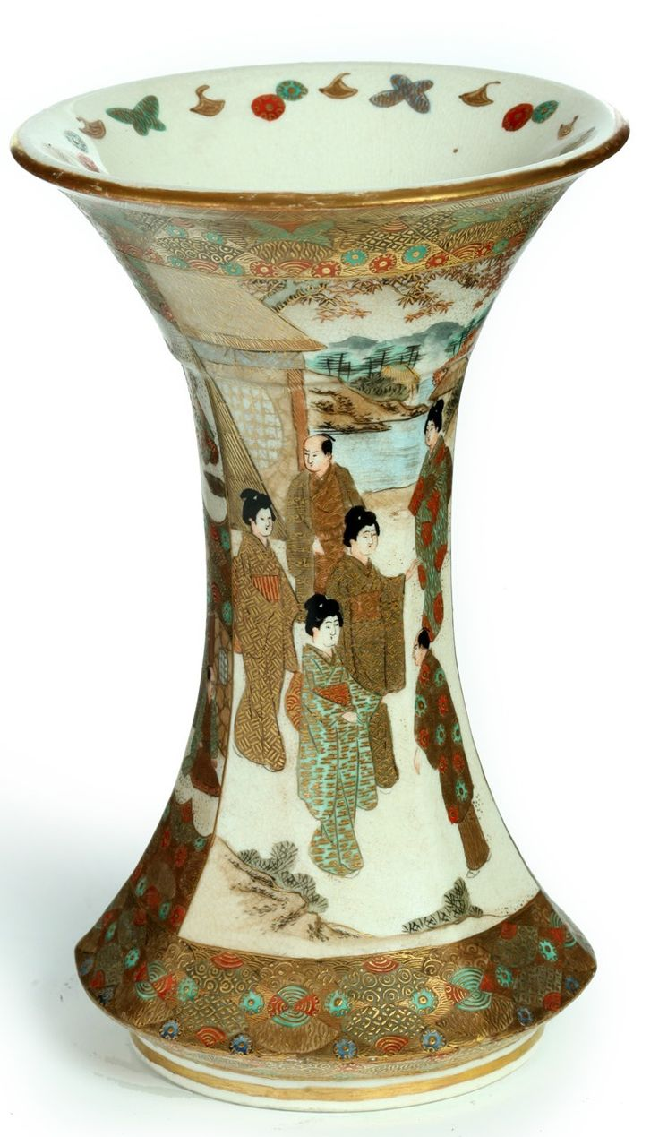 70 best satsuma images on pinterest porcelain japanese a satsuma pottery vase paneled with samurai women japan circa reviewsmspy