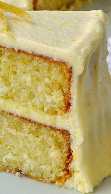 Lemon Velvet Cake ~ Developed from an outstanding Red Velvet Cake recipe, this lemon cake is a perfectly moist and tender crumbed cake with a lemony buttercream frosting. An ideal birthday cake for the lemon lover in your life.