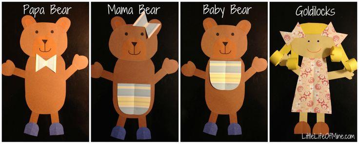Goldilocks and the three bears craft - Kindergarten craft