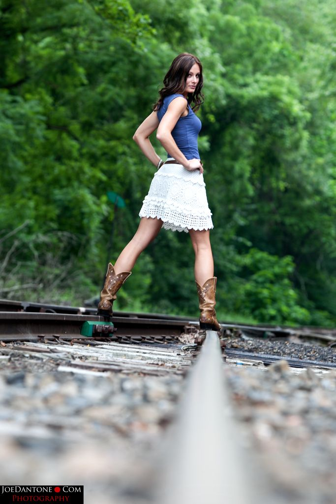 Rail road tracks, a more original pose!