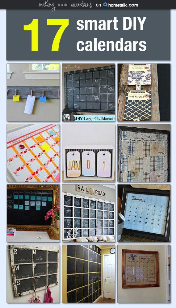 Organized Calendar Planner : Smart diy calendars to help you stay organized