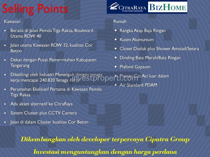 Brosur BizHome CitraRaya Tangerang #bizhomecitraraya