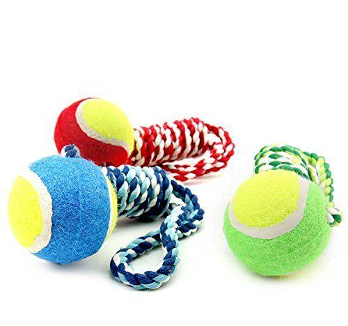oumosi pelota de tenis con Cuerda perro de juguete cuerda de algodón nudo perro los molares Masticar Juguetes bolas de limpieza dientes de mascota Formación herramienta: Amazon.es: Hogar