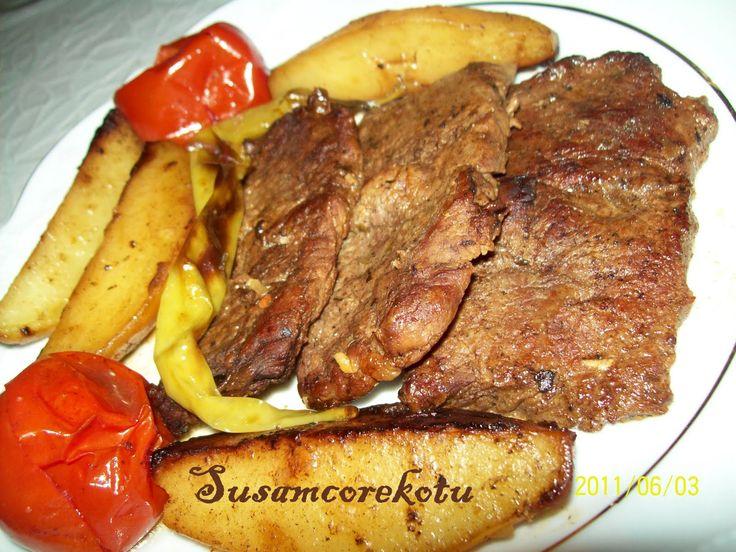 dana biftek ve patates