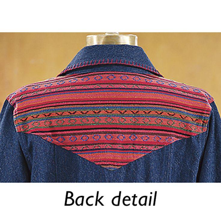 Serape Denim Jacket - Western Wear, Equestrian Inspired Clothing, Jewelry, Home Décor, Gifts