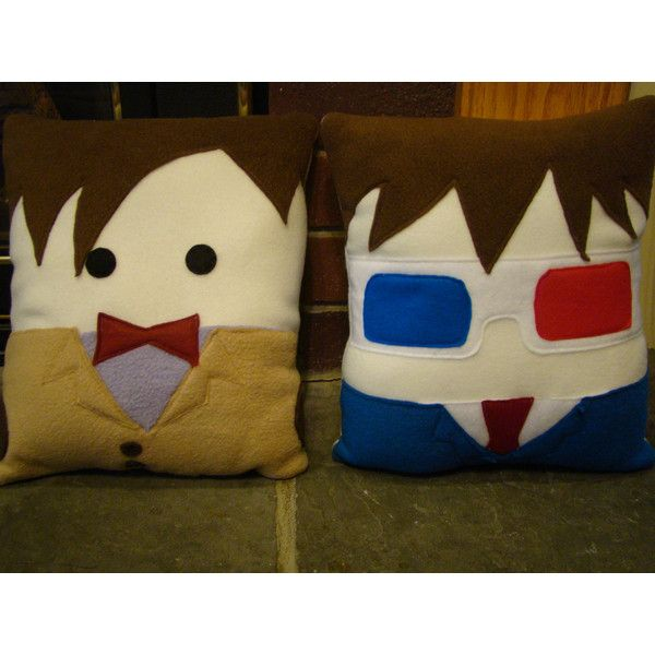 Doctor Who plush pillow, David Tennent, 10th Dr decorative pillow ($30) ❤ liked on Polyvore