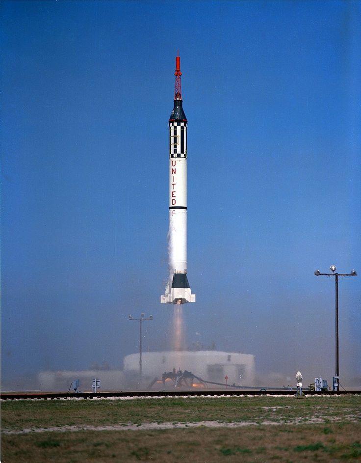 Mercury redstone rocket launch