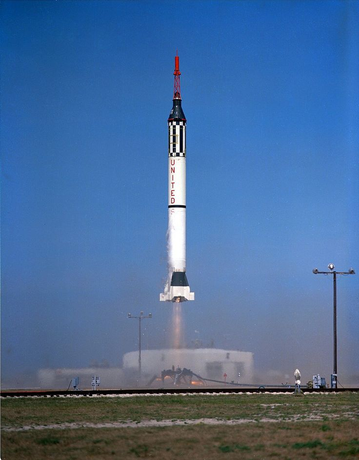 Launch of the Space Chimp, Ham, Mercury-Redstone 2.  31 January 1961
