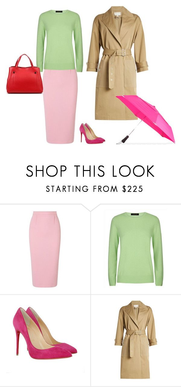 1 by asvetik on Polyvore featuring мода, Jaeger, Vanessa Bruno, Roland Mouret, Christian Louboutin and ShedRain