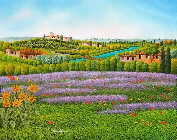 Castello in Toscana  by Cesare Marchesini of Italy