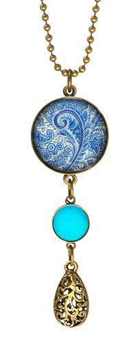 Blue Paisley Necklace - Joli 2014 collection. www.fabuleuxvous.com