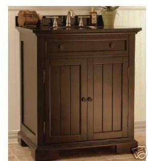 Images On  bathroom vanity dark brown granite undermount sink