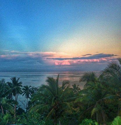 Sunrise view from the dorm at Safari on Nananu-i-ra