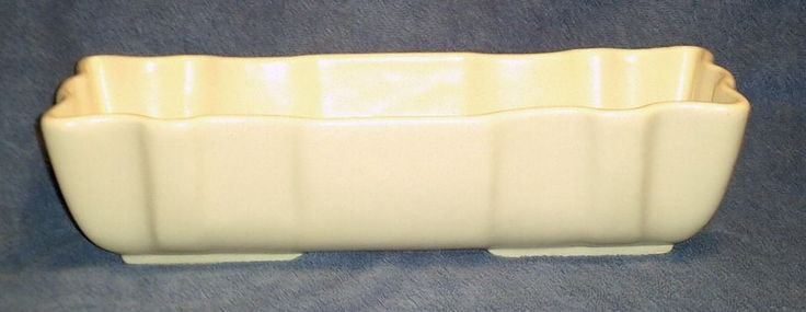 Vintage Imperial Hull Pottery Planter F72 Ivory Windowsill  14.5 Inches Long **SOLD**