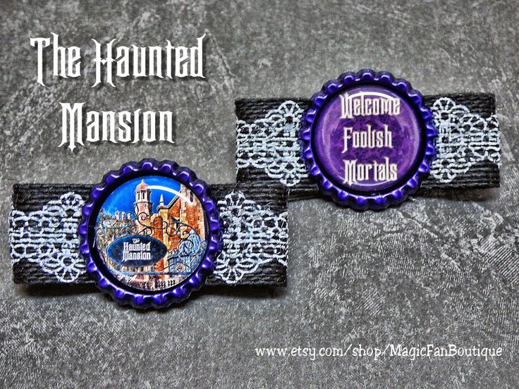 Haunted Mansion Disney Hair Clips-Disney Barrette-Disney Bow-Walt Disney World Bow-Disneyland Bow-Disney Hair Bow-Disney Accessories by MagicFanBoutique on Etsy