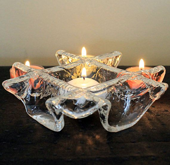 Vintage Muurla Crystal Votive Candle Holder by MillyCatVintage