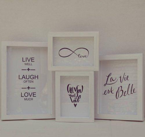 cuadros de diseño decoración con frases marco madera envios!